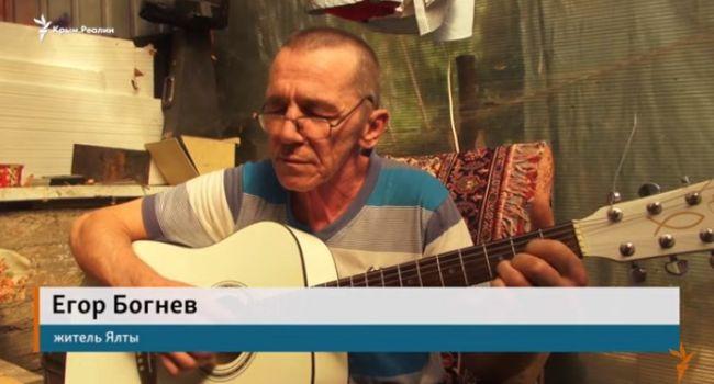 «Я не можу без тебе жити, Україно моя, Україно»: житель Ялты восхитил своей песней о Родине