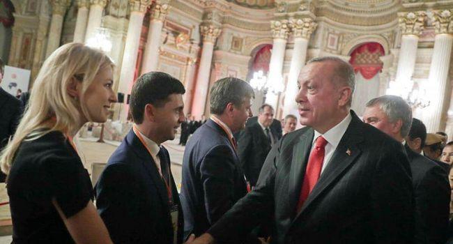 Ветеран АТО: Эрдоган жмет руку Поклонской, приветствует депутатов от оккупированного Крыма, но МИД и ОП словно воды в рот набрали