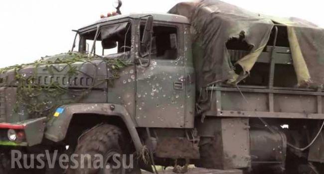 «Трагедия на Донбассе»: Грузовик с бойцами ВСУ подорвался на мине – СМИ «ДНР»