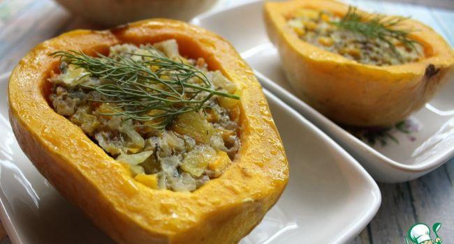 Рецепт октября: Сочная тыква с грибочками и сыром