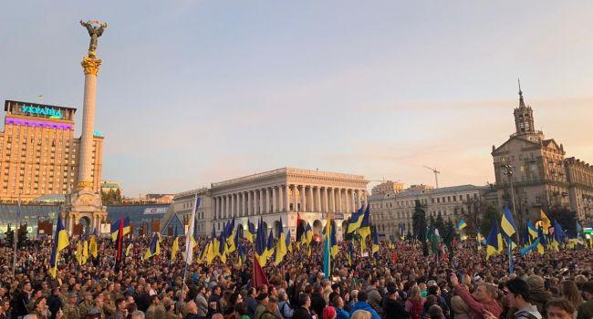 «Нет капитуляции»: В полиции сообщили о 12 тысячах участников акции