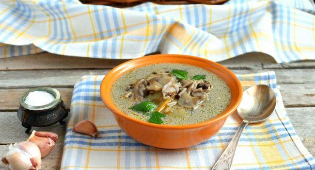 Блюдо октября для худеющих: Вкуснейший вегетарианский суп с грибами
