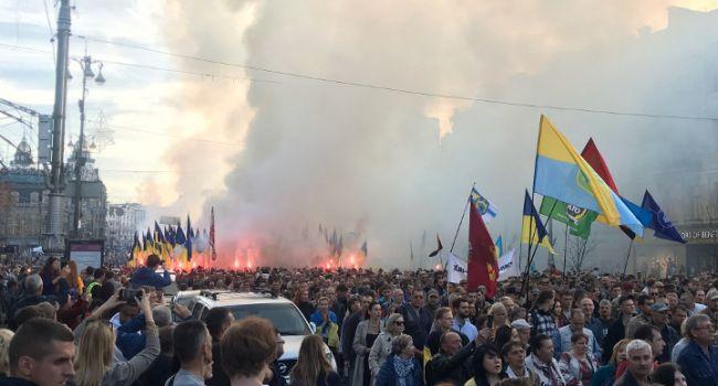 Бала: 14 октября показало, что патриотически настроенные граждане не позволят власти сдать Украину