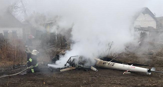 В полиции обнародовали подробности падения вертолета и гибели экс-министра
