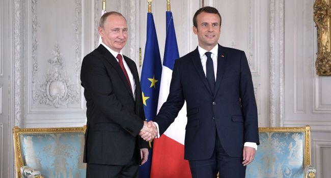 Путин - Макрону: Для саммита в «нормандском формате» Украина должна выполнить все условия