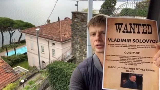 «Он нагло врет и призывает убивать в Украине. А потом едет на отдых в Италию»: Гончаренко показал, как выглядит итальянская вилла пропагандиста Соловьева