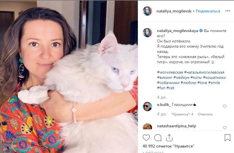 «Ох, какой красивый»: Наташа Могилевская без косметики на лице, удивила сеть фото с любимцем