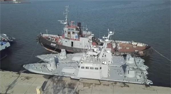 В РФ заявляют, что в возвращенных кораблях заменены шторки, а вещи моряков постиранные