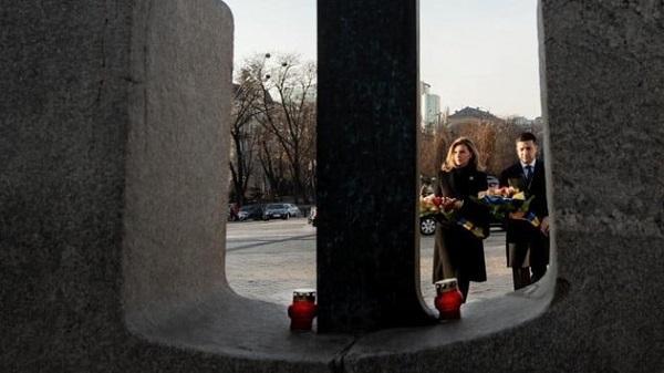 Чета Зеленских сегодня почтила память жертв Голодомора