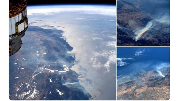 «Видно даже из космоса»: Астронавты НАСА показали пожар в Калифорнии