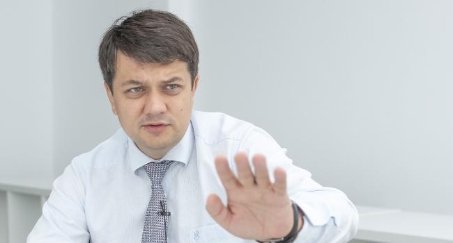 «Депутаты могли бы обойтись без такой помощи»: Разумков заявил, что выступает против выплаты депутатам компенсаций за аренду жилья