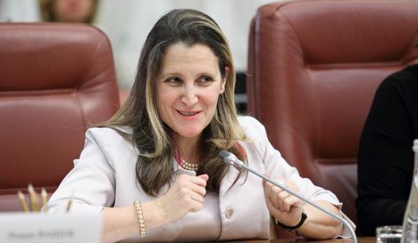 Фриланд назначили заместителем главы правительства Канады