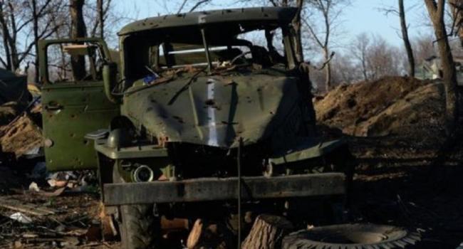 Боевики Донбасса расстреляли из ПТРК грузовик ВСУ с бойцами ООС, есть потери