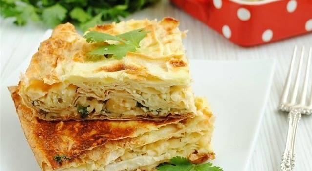 Вкусные и экономные закуски на Новый год: Грибной торт из лаваша