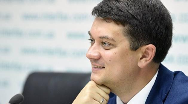 «Торговли не может быть»: спикер Рады Разумков рассказал о «красных линиях» по Донбассу