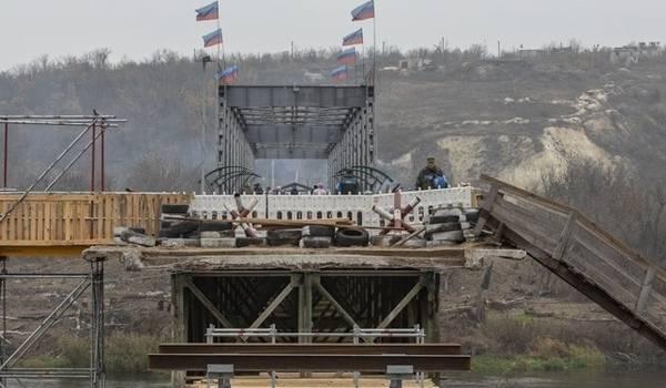 «Завтра их флаги будут висеть по всему Донбассу»: «ЛНР» устроила провокацию на мосту