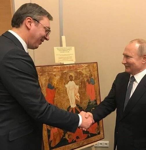 Все ради одного дела: Путин и Вучич провели обмен двусмысленными подарками