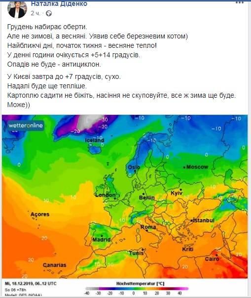 «Увірветься весняне тепло, але картоплю садити не біжіть»: синоптик здивувала свіжим прогнозом погоди