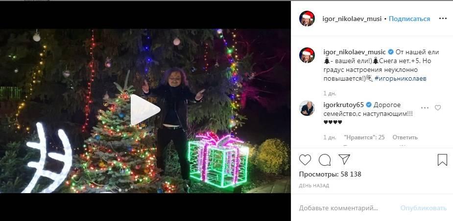 «Прям как у Максима Галкина»: Николаев показал свою огромную елку, которую украсил дома