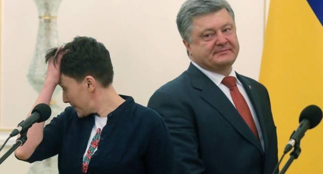 «У нас там война, его сын воевал»: Савченко назвала Порошенко «отвратительным»