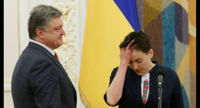 «Отвращение появилось после первой личной встречи»: Савченко объяснила, почему она негативно относится к Порошенко
