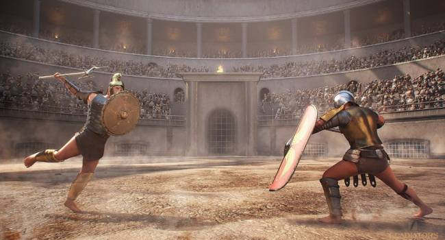 В Помпеях была найдена уникальная фреска, показывающая бой гладиаторов