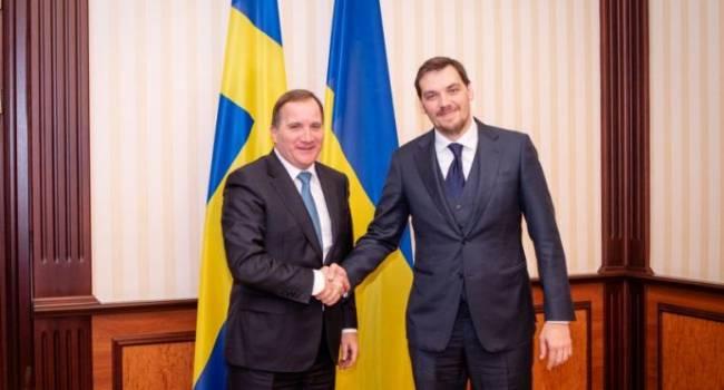 Гончарук обсудил «промышленный безвиз» с премьером Швеции