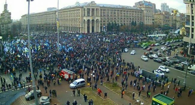 Журналист: акция на Майдане прошла мирно и закончилась, непонятно только, чего так истерили сторонники Зеленского?