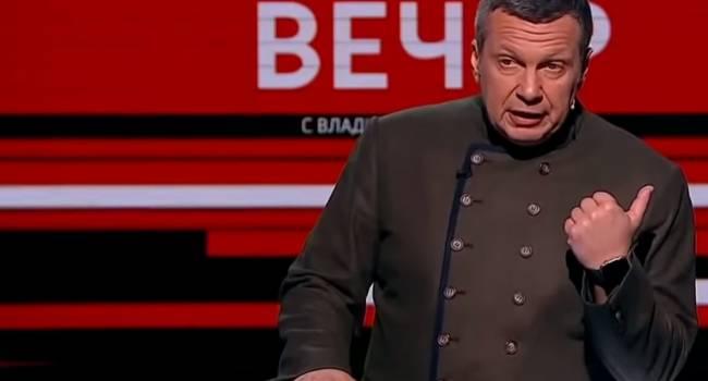 «Что они курят? Путин же уже предупредил»: Соловьев снова обрушился с критикой на украинскую власть