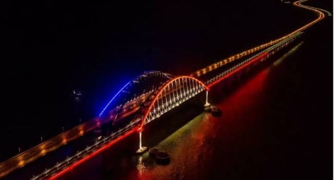 Триколор и другое освещение: перед запуском железнодорожной ветки Крымский мост буквально засиял