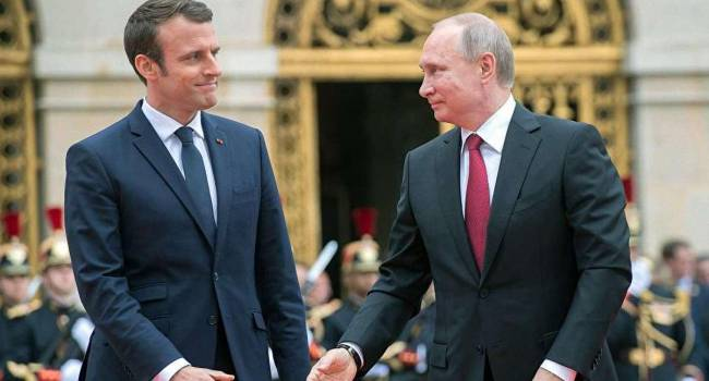 Президенты России и Франции обсудили транзит «голубого топлива» через Украину