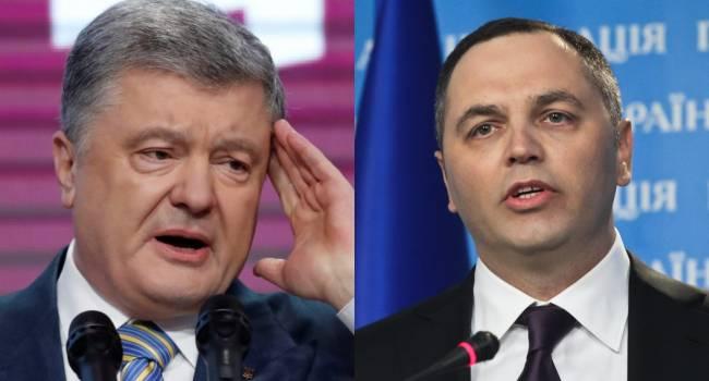 Портнов сам признался, что подавал заявление о совершении Порошенко госизмены, поскольку пятый президент выводил людей на протесты - Головань