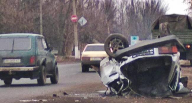 Жесткое ДТП в Макеевке: Военный «Урал» НВФ «размазал по асфальту» легковушку