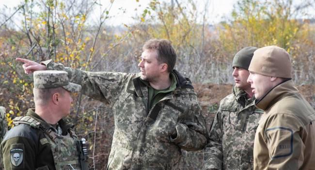 Загороднюк посетил позиции ВСУ на передовой