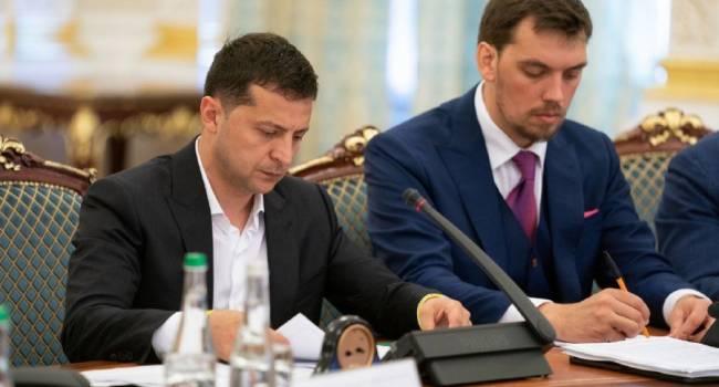 Зеленский заявил, что решил «дать шанс» Кабмину Гончарука, и озвучил приоритетные задачи