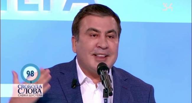 Саакашвили у Шустера попытался оправдать «молодых технократов» за большие зарплаты и провалы в экономике