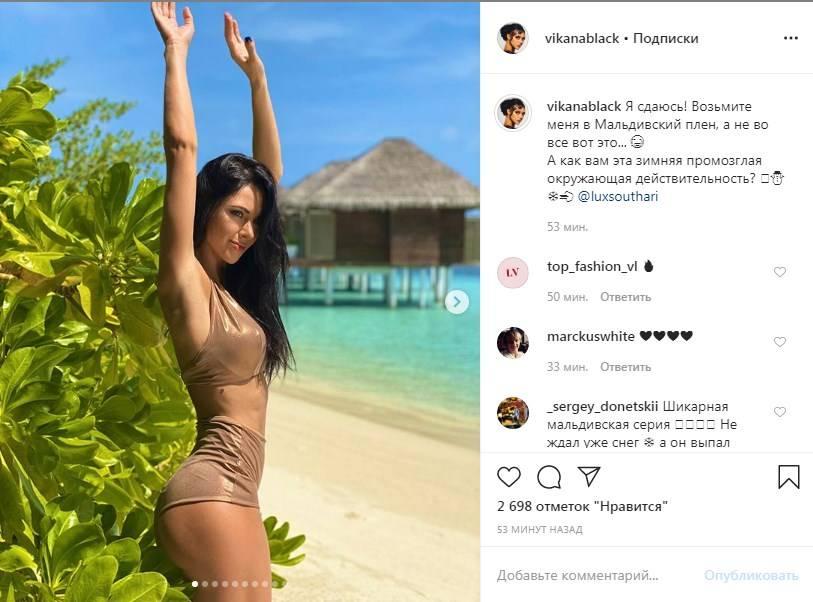 «Купальник ужас»: Вика с «НеАнгелов» показала новую серию пикантных пляжных фото, нарвавшись на критику