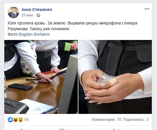 «Леди Ю пролила кровь за землю»: СМИ показали травму Тимошенко в Раде