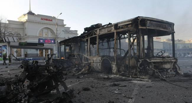 «Чемоданы падают»: С самого утра Донецк содрогается от боевых действий