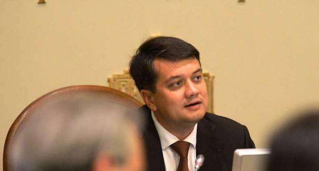 Разумков сегодня прошел «катком» по оппозиции, посоветовав предшественникам отчитываться о своих делах