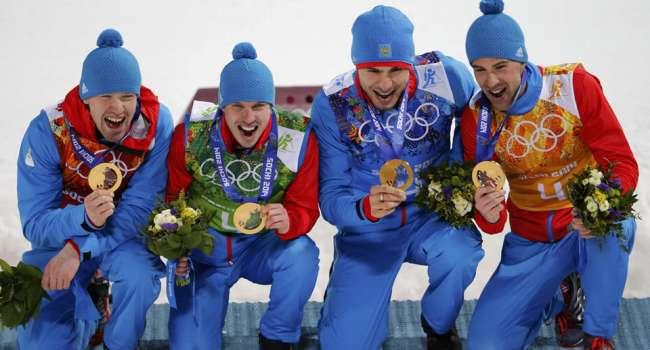 Российских биатлонистов лишили эстафетного золота Олимпиады в Сочи из-за допинга Устюгова