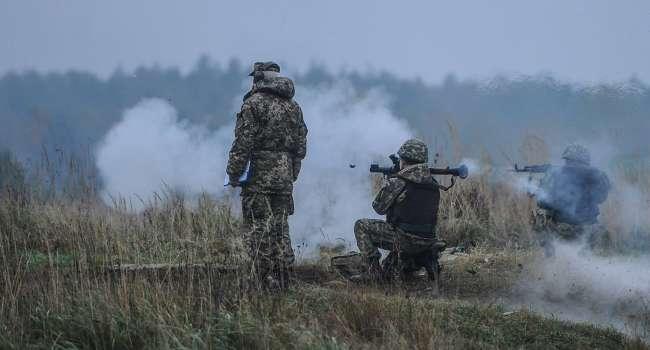 Гибридная армия России жестко атаковала из запрещенного вооружения позиции сил ООС