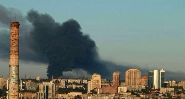«Ой-ой-ой! Разошлись не на шутку»: В Донецке с самого утра идут кровавые бои, видны клубы дыма