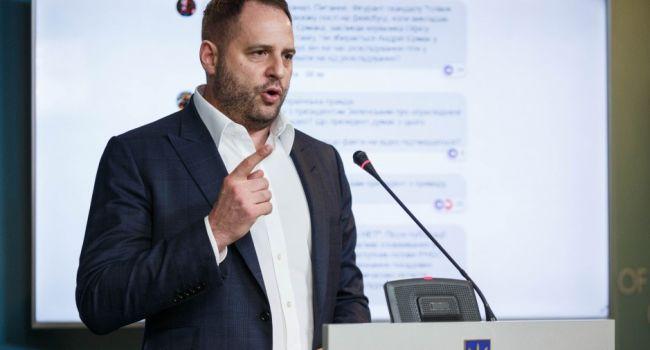 Нусс: глава Офиса президента Ермак сегодня дал брифинг, в ходе которого откровенно врал