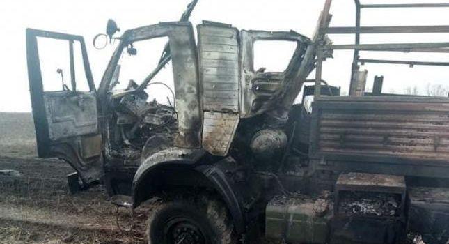 Российские войска на Донбассе ракетой расстреляли грузовик ВСУ, есть потери