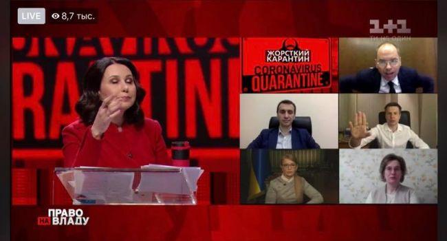 Горковенко: министр здравоохранения Степанов сбежал с эфира ток-шоу «Право на власть»