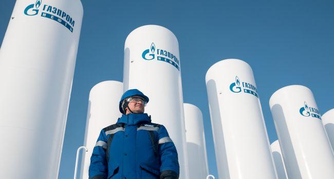 Российский «Газпром» потерял 50% прибыли из-за низкого спроса на газ