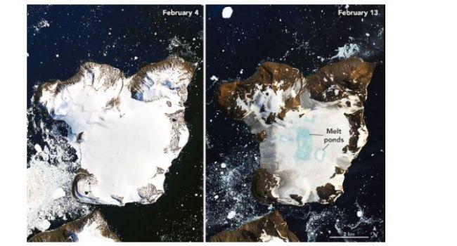 Практически полностью растаяли: ученые показали последствия глобального потепления в Антарктиде