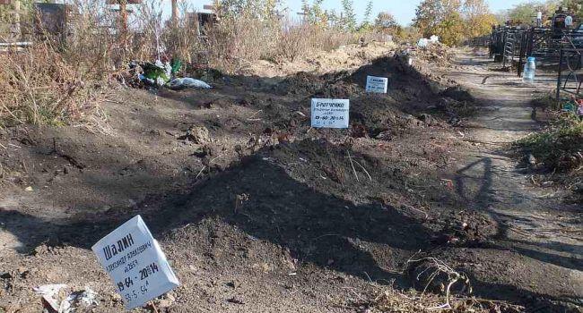 «Жертвы путинской пропаганды»: В Сети показали огромное захоронение боевиков «ЛНР» на Донбассе