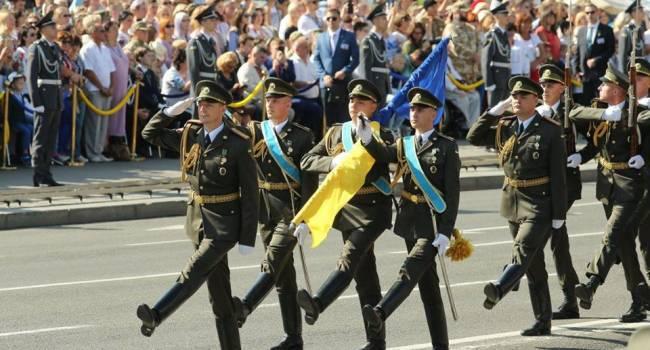 Журналист: сначала Зекоманда уберет ромбы с погонов, а затем и приветствие «Слава Украине – Героям слава!» заменят на что-то нейтральное